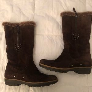 Aquatalia Brown winter boots used.